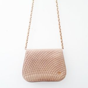 Bally | Quilted Leather Gold Chain Crossbody